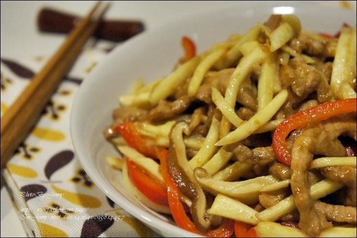 筊白筍炒肉絲6