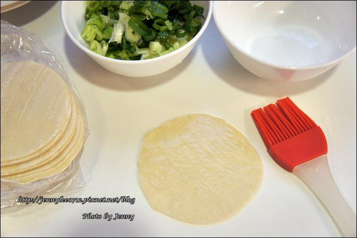 蔥油餅(水餃皮快速版)1