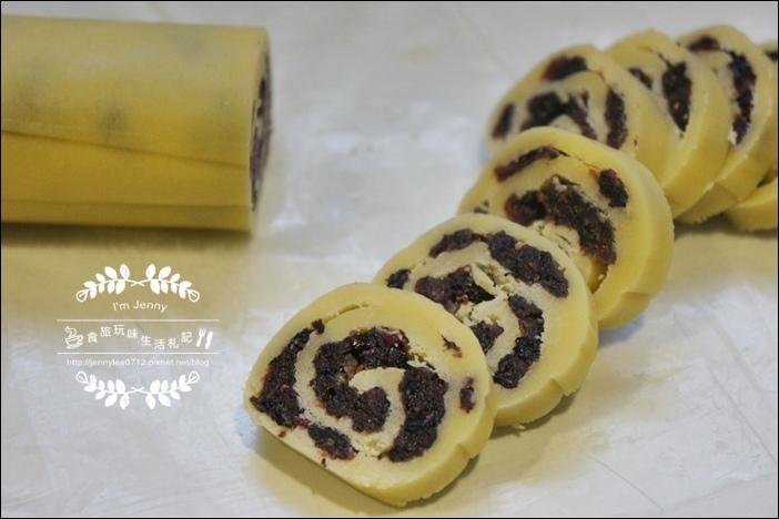 莓果乾捲心酥餅6