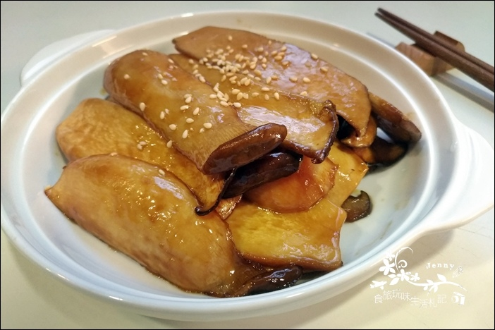 奶油醬燒杏鮑菇5