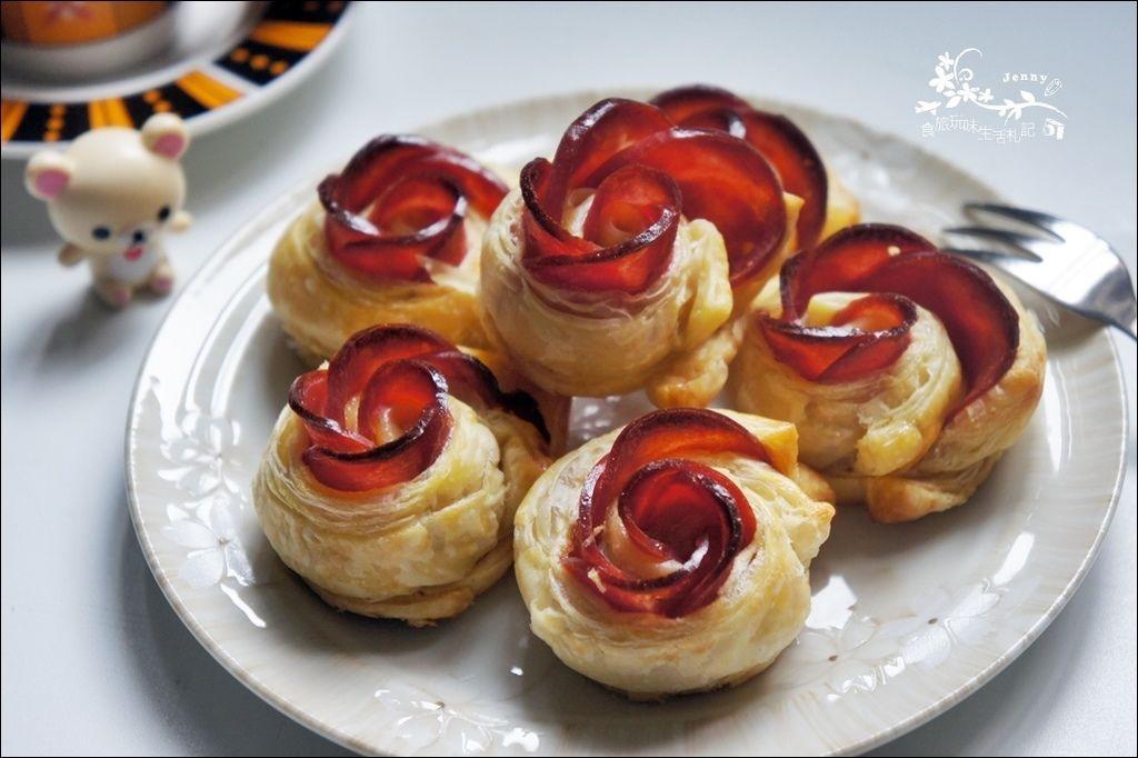 火腿玫瑰酥9