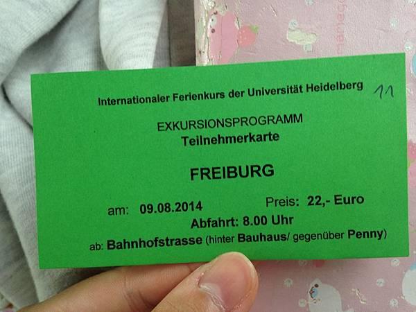 Ticket to Freiburg