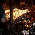 藥王山內的酥油燈