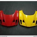 與拋光好的黃色款車頭比較一下,還是紅色款比較亮...
