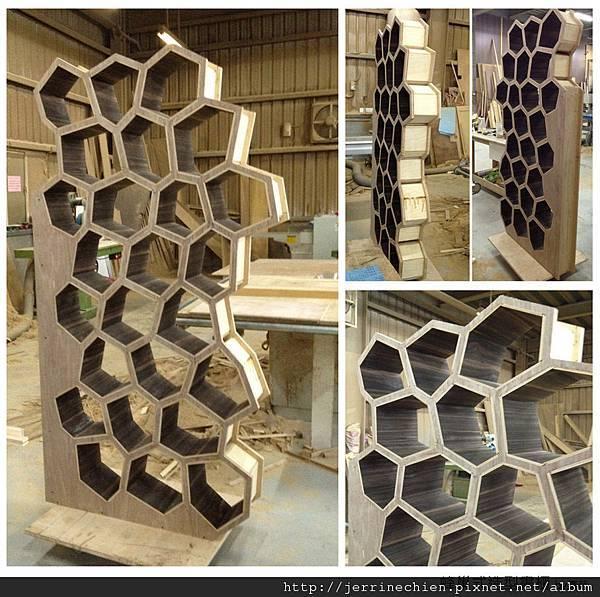 半成品-蜂巢造型書櫃