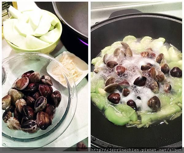 蛤蠣絲瓜-備菜