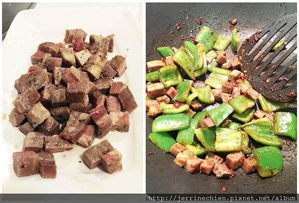 青椒骰子牛肉-炒
