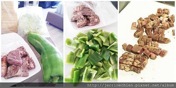 青椒骰子牛肉-備菜