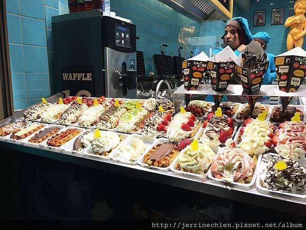 20160209黃金廣場 鬆餅店