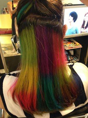 彩色的髮色