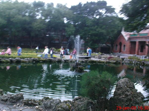 真理大學的噴水池
