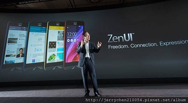 ASUS Chairman Jonney Shih introduced all new ZenUI at CES 2015.jpg