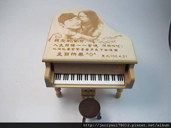 日本楓木音樂盒禮物 影像雕刻