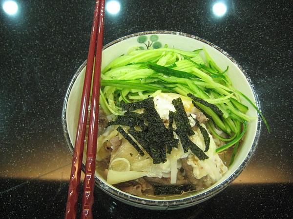 晚餐-泡菜寬冬粉