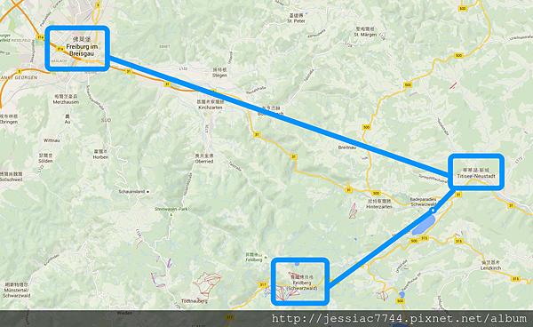 黑森林路線圖:蒂蒂湖-佛萊堡-費爾德貝格