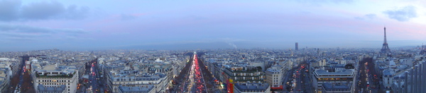 Paris from top of Arc de Triomphe 1