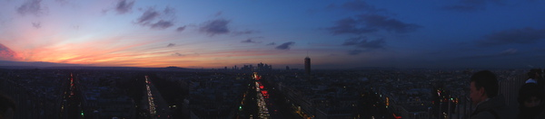 Paris from top of Arc de Triomphe 4