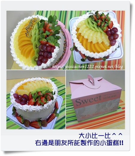 大小蛋糕 比一比