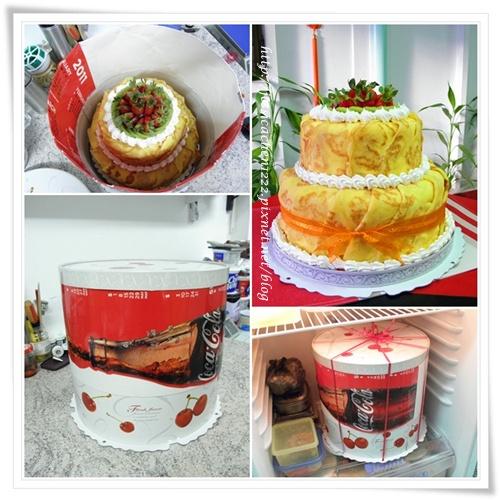 烙紋雙層蛋糕