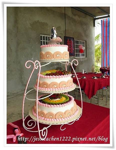 婚宴三層蛋糕