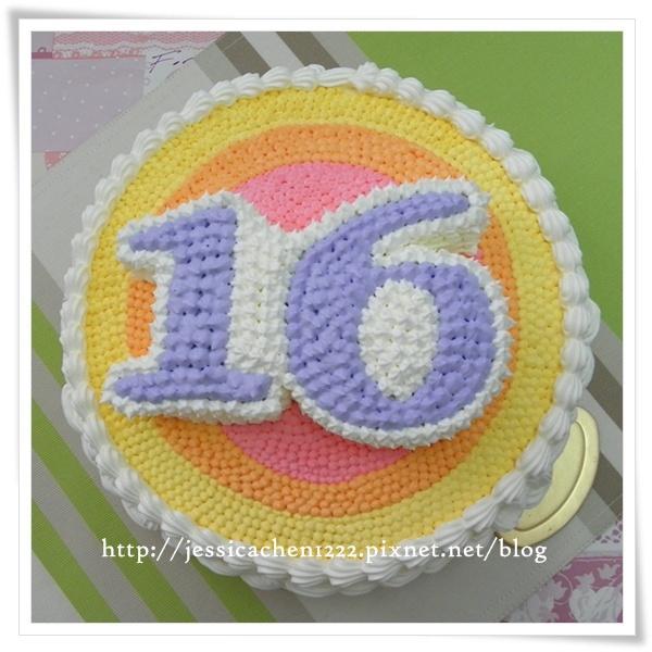 16歲生日蛋糕