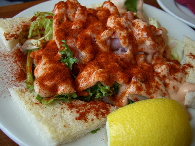 明蝦沙拉~好吃!