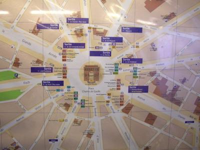凱旋門的12條大道是這樣的