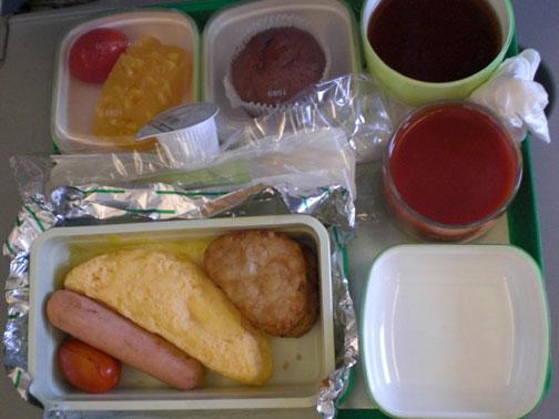 機上早餐--蛋包餐