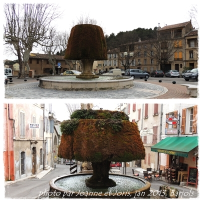 fontaine de mousse