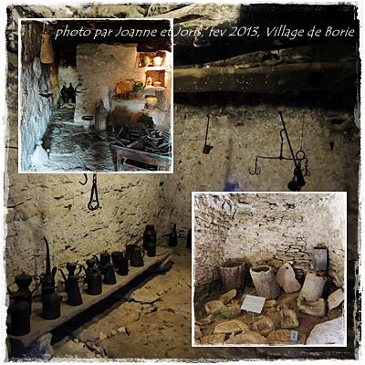 village de Borie, outils
