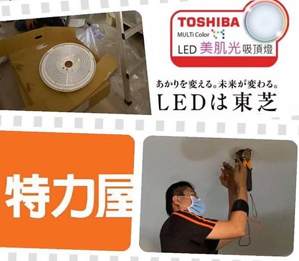 特力屋獨規商品 - Toshiba東芝RGB 微星幕40W LED美肌吸頂燈