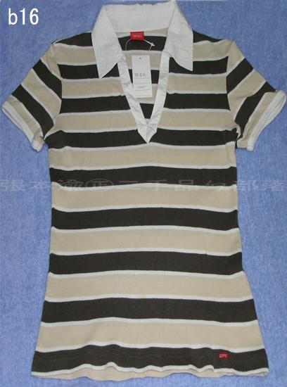 編號:23  麻辣一家親戲服 條紋V領POLO衫