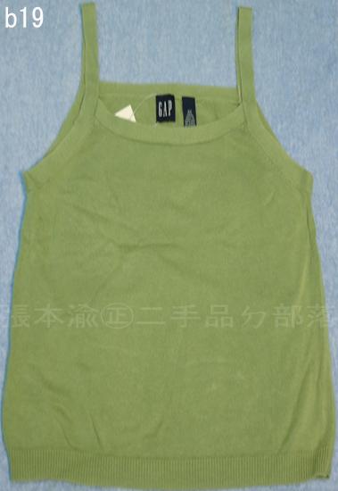 編號:25  購自美國 穿起來很舒服 GAP綠色背心