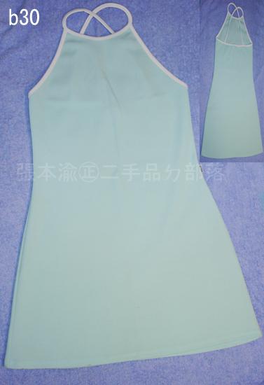 編號:37  質料特殊穿起來很淑女的MORGAN藍綠色小洋裝