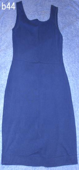 編號:50  有個可愛小挖背 班尼頓 藍色合身棉質洋裝