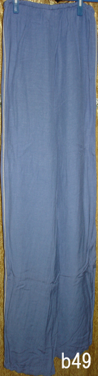 編號:51  夏天穿超舒服 腰部是鬆緊帶 CELYN藍色長褲