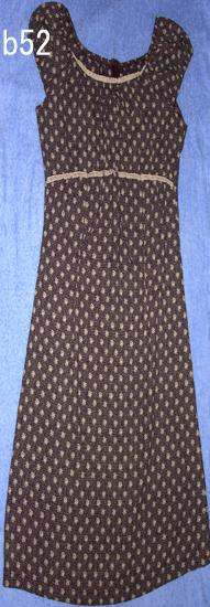 編號:53 購自美國 只穿一次 matinee咖啡色花布洋裝