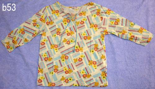編號:54  購自日本 LEGERESUCRE花布七分袖上衣