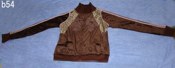編號:55  婆媳過招千百回戲服 咖啡色粉邊外套