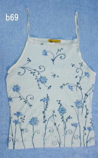 編號:64  購自法國 BLUEASphalt藍色花紋背心