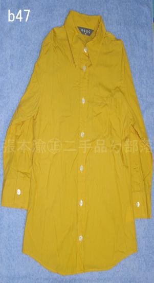 編號:72  OZOC黃色七分袖襯衫(領子後方有一點白白的)