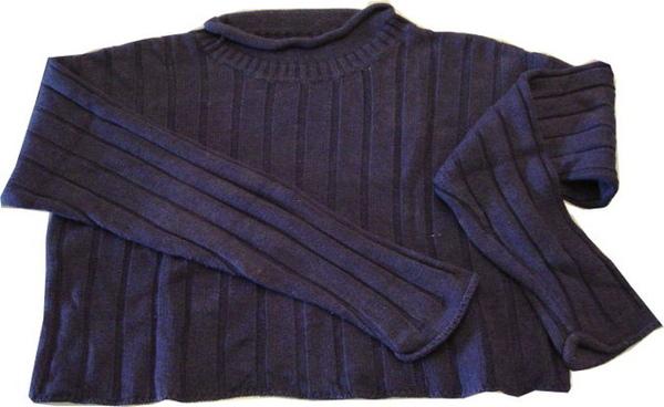 編號:134  購自美國 短版針織上衣 裡面搭薄高領就很有型