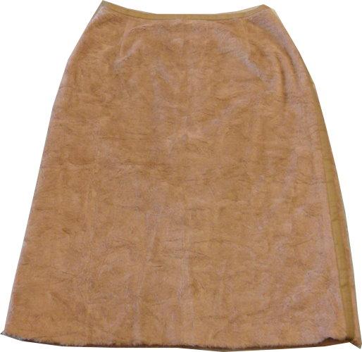 編號:141  OZOC駝色毛裙飾以皮革邊線 舒服 顏色好搭