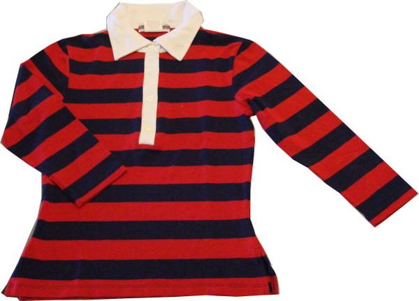 編號:146  購自美國 合身七分袖 是永不退流行的條紋