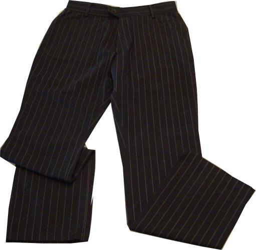 編號:155  黑色細直條紋西裝褲 上班族很實穿