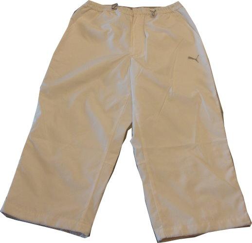 編號:160  白色塑膠布6分運動休閒褲 腰間的鬆緊帶是特色