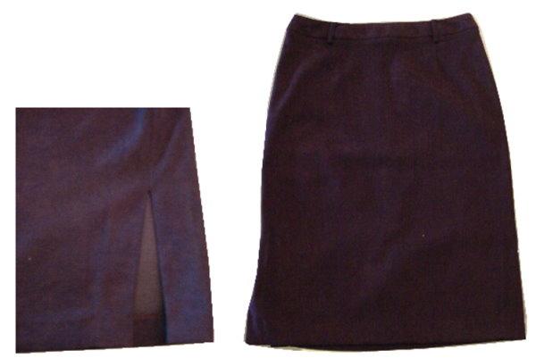 編號:162  購自法國 性感紫色開岔窄裙