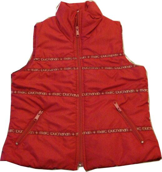 編號:165  紅色鋪棉背心 保暖好穿又方便