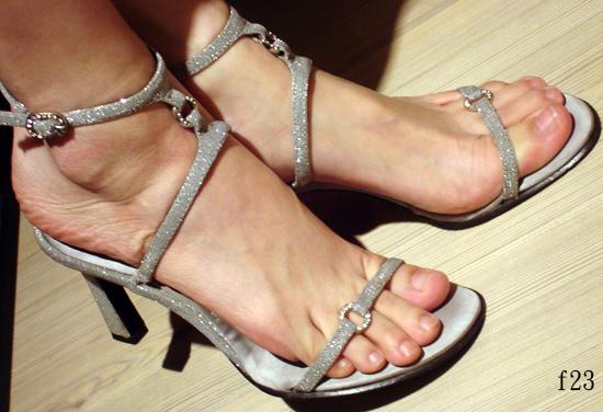 編號:173  銀蔥細帶高跟鞋 上節目穿過 實搭 好穿
