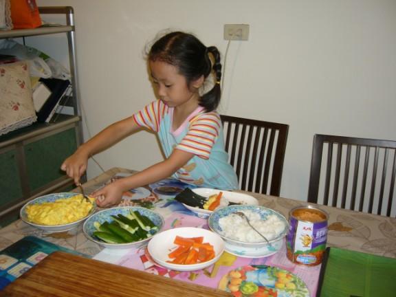 汶公主選擇喜歡的食材